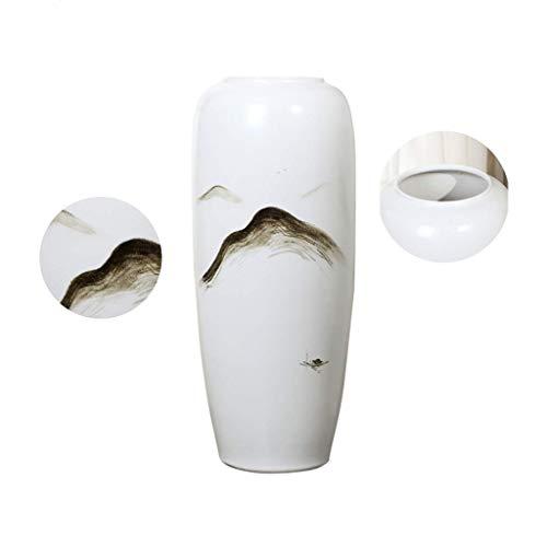 WJMLS Keramik Blumenvase, Ikebana Blumenschmuck, dekorative Bud Hydroponics Container, Inneneinrichtungen Tischdekoration Vase, Arrangieren von Blumensträußen für Inneneinrichtungen (Ikebana-keramik-vasen)