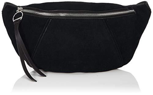 Liebeskind Berlin Damen Story Suede-Belt Bag Umhängetasche, Schwarz (Black), 8x14x34 cm