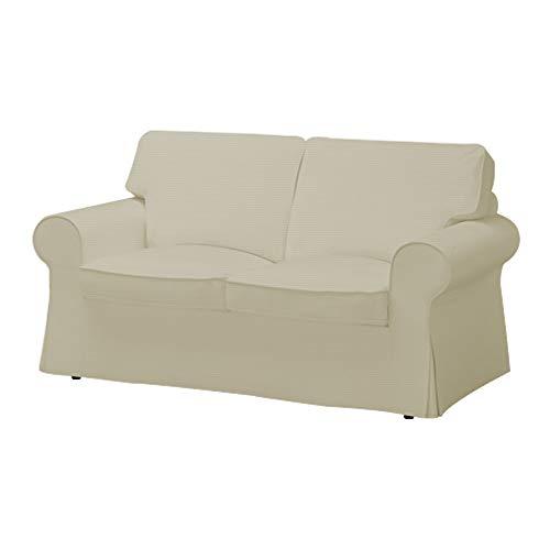 Ektorp Sofa (TLYESD Ektorp 2-Sitzer-Sofa-Bezug aus Baumwolle für IKEA Ektorp 2-Sitzer Sofa beige)