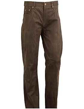 Lederjeans Damen-Lederjeans Herren - 5 Pocket Lederhose, Lederhose lang Herren Nubuk Echt Leder- Lederhose Herren...