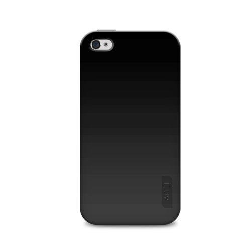 iLuv Gelato Flexi Gel Housse en caoutchouc pour iPhone 4GS Blanc Noir