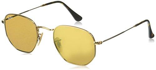 Ray Ban Unisex Sonnenbrille Hexagonal, (Gestell, Gläser: Gold 001/93), Small (Herstellergröße: 48)