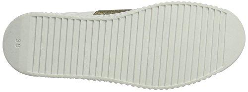 Marco Tozzi 23719, Sneakers Basses Femme Blanc (White/gold 172)