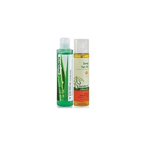 Macrovita Aloe Vera Gel 170ml & FREE Deep Tanning oil SPF6 100ml