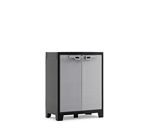 Kis Armadietto a esterno impermeabile grigio-nero Titan Low Cabinet
