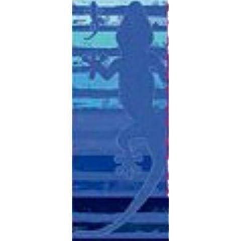 Set TOALLA PLAYA GRANDE LAGARTO celeste/azul (421A) 100% ALGODÓN EGIPCIO MOD: (407A) 90X170CM y PACK CALCETINES MARCA TIENDADELEGGINGS tobilleros anti-presion