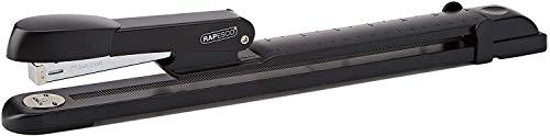Rapesco A590FBA3 Marlin Langarm Heftgerät (verstellbare Papierführung) Schwarz