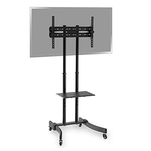 BeMatik - Soporte de pie con Ruedas para Pantalla Plana TV LED LCD de 37''-70'' 1715mm