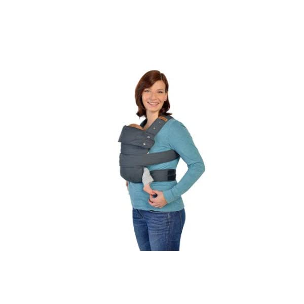 marsupi Baby and Child Carrier, Version 2.0 Classic (Grey/Gray, L) Marsupi Particularly compact and lightweight front & hip carrier (weight approx. 400 g) that fits in any pocket. Revised Version 2.0 Easy to put on thanks to unique Velcro system. 100% organic cotton, made in Europe. Machine washable up to 30°. Perfect support for the little ones, optimum weight distribution for the parents, wide base for orthopaedically correct posture (M position) and thigh support for your growing child 1