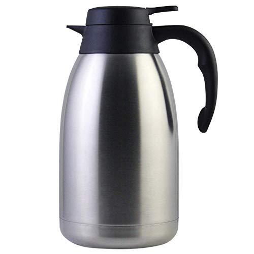 Cikuso 68 Oz Thermo Kaffee Karaffe Aus Edelstahl/Doppelwandiger Vakuum Thermos / 12 Stunden W?rmespeicher / 2 Liter -
