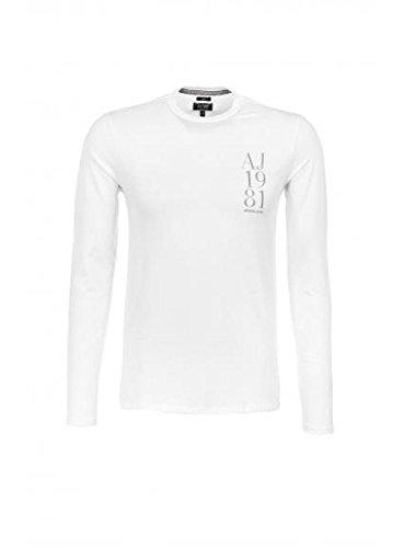 Armani Jeans a maniche lunghe maglietta Slim-a6h08da bianco Taglia unica