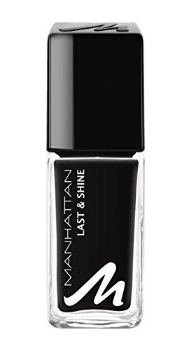 Manhattan Last & Shine Nail Polish, Fb. 955 Matte Black, Nagellack mit langanhaltendem Farbglanz in...