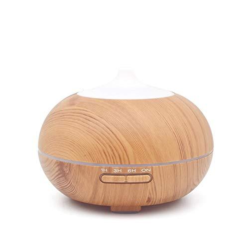 Ddl Befeuchter Ultraschall-Aroma Essential Oil Diffuser für Office Home Bedroom Living Room Study Yoga Spa-Wood Grain,Lightwoodgrain (Essentials, Spa Room Aroma-nebel)