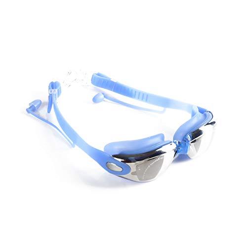 SPOTACT Schwimmbrille Transparenter Anti-Fog-UV-Schutz Keine Undichte Klare Linse Mode Schwimmbrille Für Erwachsene Mann/Frau, Jugendliche, Kinder. (Blau)