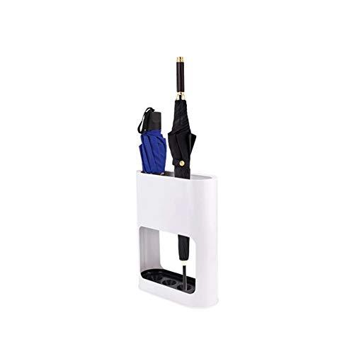GX&XD Moderne Weiß 4-Slot Schirmständer Mit Entfernbar Tropfschale, Long Kurze Regenschirm Wanderstöcke Ständer Halter Mit Anti-rutsch Stabil Unten