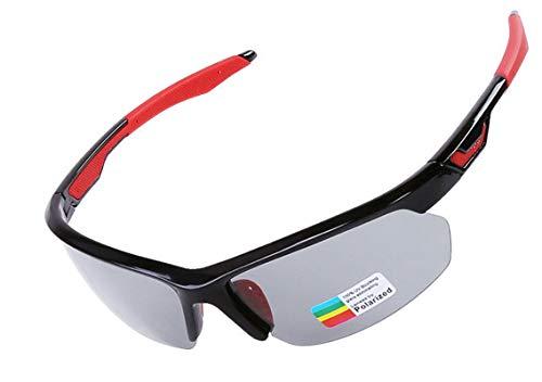 KnBoB Radbrille Jugend Fahrradbrille Gegen Wind Radbrille Selbsttönend Damen Schwarz Rot -