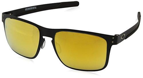 Oakley Herren Holbrook Metal 412313 Sonnenbrille, Schwarz (Negro), 55