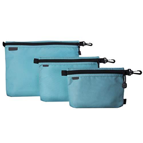 Ensemble de 3 pièces Sac de Rangement à glissière Sac de Lavage Sac à cosmétiques Épaississement étanche Fournitures de Bureau avec Pickpocket Haute capacité Multifonction (Couleur : B, Taille : L)