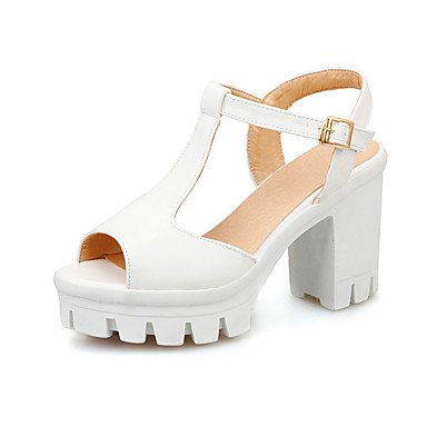 LvYuan Da donna-Sandali-Ufficio e lavoro Formale Casual-Club Shoes-Quadrato-PU (Poliuretano)-Blu Rosa Viola Bianco White