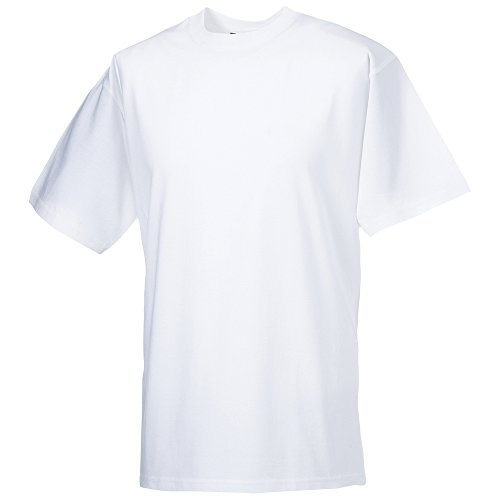 Russell Athletic -  T-shirt - Uomo bianco Medium