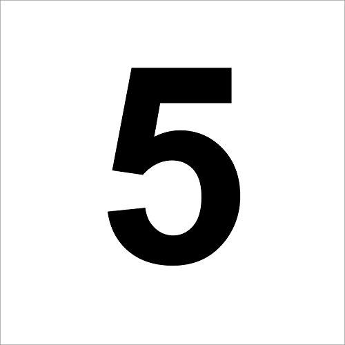 """Preisvergleich Produktbild 3 mal Nummer """"5 """" hochwertige Zahlenaufkleber, schwarz, wetterfeste, 10 cm hoch, aus Hochleistungsfolie, ohne Hintergrund, Zahlen, Nummer, Mülltonne,Mülltonnen, Uahlenaufkleber, Hausnummer, Briefkasten, Aufkleber"""