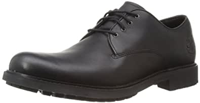 Timberland Men's Black Smooth Leather Formal Shoes - 11 UK