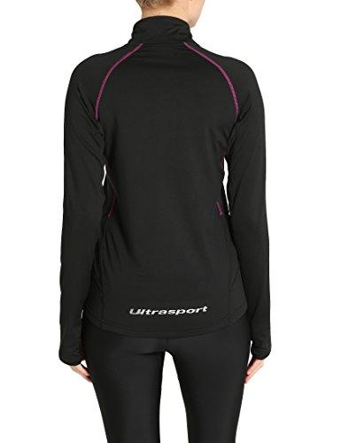 Ultrasport Midlayer Salia T-Shirt de sport manches longues Femme Tailles et Coloris au Choix Noir