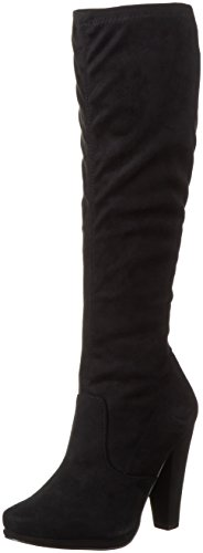 Bianco Stretch Boot Son16, Bottes Hautes femme Noir - Schwarz (Black/10)