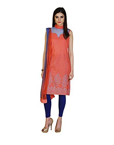 Yepme Shayna Kurti Set - Red & Blue -- YPMSKD0073_L