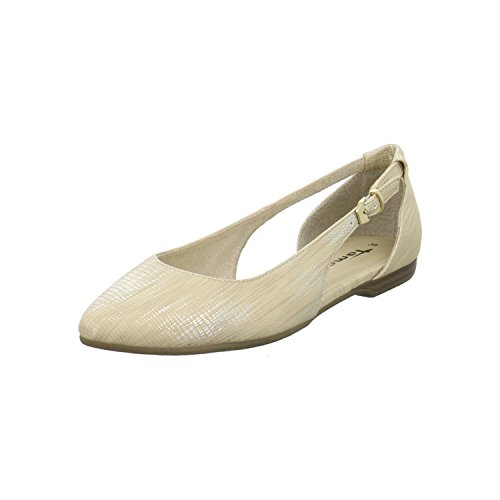 Tamaris Mary Jane Sandali Bianco 1-29400-26 117 in pelle bianca Gold
