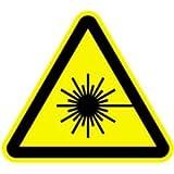 Schild Warnung vor Laserstrahl 20cm sl Alu gemäß ASR A 1.3/BGV A8/DIN 4844