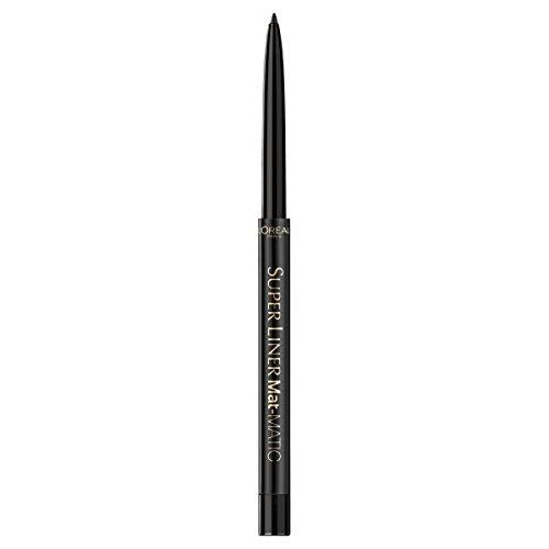L'Oréal Paris Super Liner Mat Matic, Ultra Black - präziser Eyeliner mit speziell angereicherten Mikro-Gel Pigmenten - wasserfest & bis zu 12h Halt! - für ein intensives, mattes Finish, 1er Pack