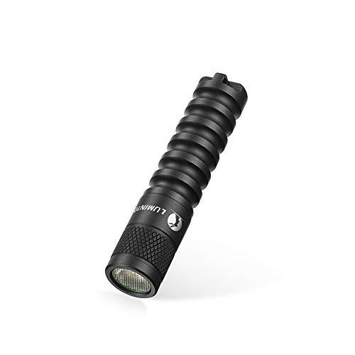 Kleine LED Taschenlampe LUMINTOP EDC01 Mini Handlampe mit Schlüsselanhänger 120 Lumen 3 Modi Einstellbar IP68 Wasserdicht Leichte Lampe für Kinder Jungen Outdoor Camping Wandern Notfall (Schwarz)