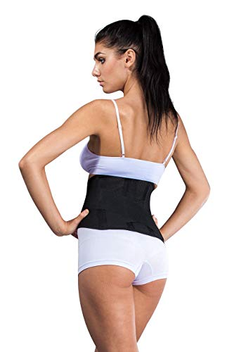 """Atmungsaktive Rückenbandage, Rückenstütze""""LOREY-LU10077"""" aus elastischem Netzgewebe Größe XL Farbe Schwarz"""