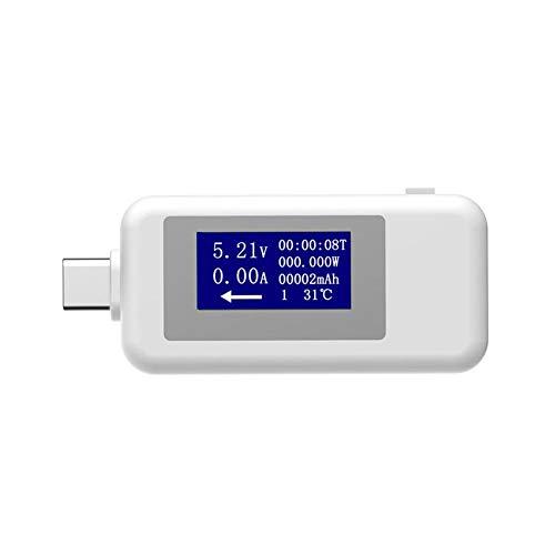Supertop USB Voltage Current Multimeter - USB Leistungsmesser USB Tester Monitor - USB Meter 0-5.1A Amp Volt LED-Lesegerät - Ultra Portable Durable V/A Maßnahme - Bestes Voltmeter für Smartphone