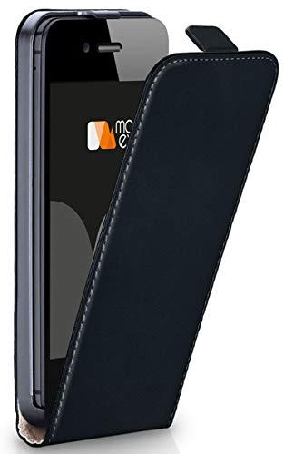 Magnetverschluss [Rundum-Schutz] passend für iPhone 5S / 5 / iPhone SE | 360° Handycover aus feinem Premium Kunst-Leder, Schwarz ()