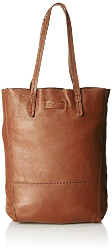 Leder Shopper Medium (Liebeskind Berlin Damen Essential Tote Medium, Braun (Bourbon), 11x38x25 cm)