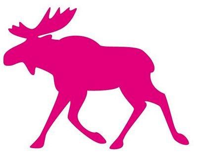 Autoaufkleber Sticker Rentier Elch pink rosa Aufkleber