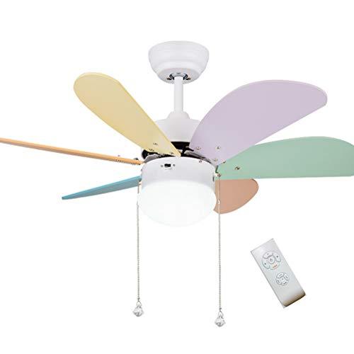 MEIEI Deckenventilator Licht, Kinder Deckenventilator Licht Einfache Fan Licht Schlafzimmer Fan Kronleuchter Esszimmer Wohnzimmer LED Deckenventilator Licht (30 Zoll) (Color : Remote Control) -