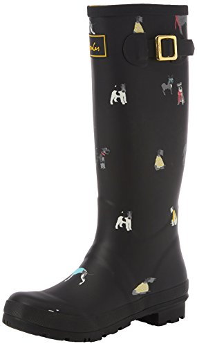 Joules Women's Wellyprint Wellington Boots, Black (Black Cosy Dogs), 6 UK 39...