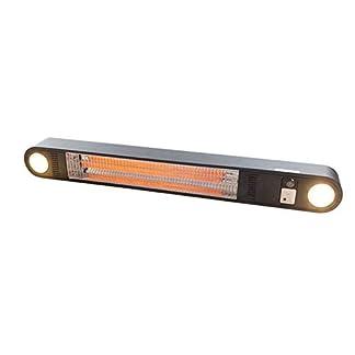 Perel – Estufa para Exterior (1500 W, Montaje en Pared o Techo, con LED y Mando a Distancia)