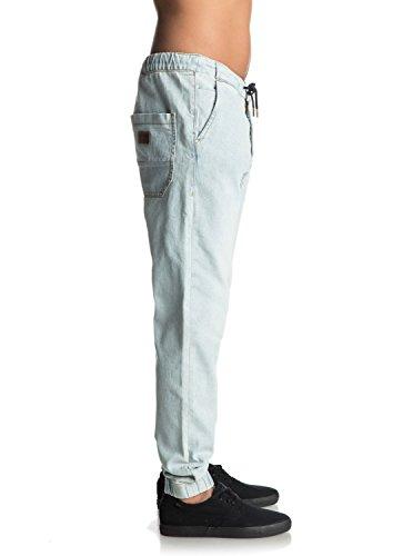 Quiksilver Bradfonic Bleached - Pantalon de jogging en denim pour Homme Bleu - Bleached Surf