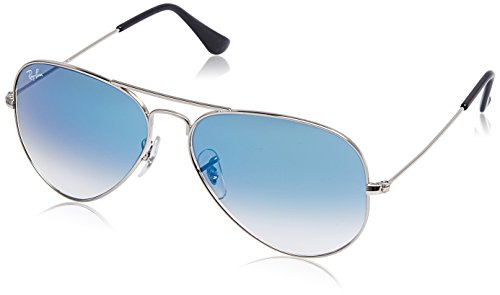 Ray-Ban Gradient Aviator Men's Sunglasses - (0RB3025I003/3F58 58 Crystal White Grad. Blue Color)