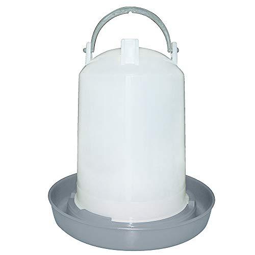 SunDeluxe Geflügeltränke - automatische Tränke für Hühner und Geflügel - Zylinder Hühnertränke mit Bügel zum Tragen und Aufhängen - leichte Handhabung, Volumen:3 Liter -
