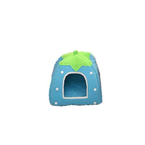 Hundehütte Katzenstreu Erdbeernest Hasen Nest Katzenstube herausnehmbar und waschbar Heimtierbedarf himmelblau M31 * 31 205g (Hundehütte Deodorizer)