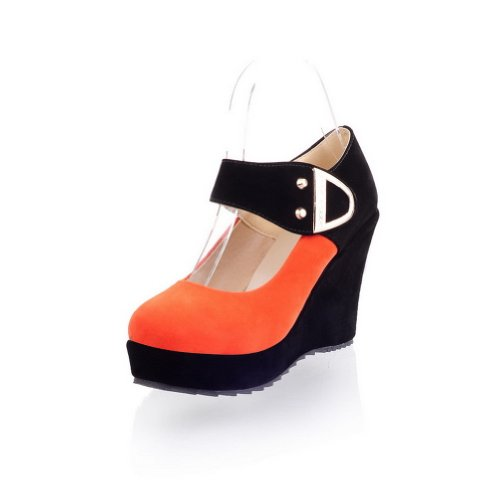 Adee , Sandales Compensées femme Orange - Orange