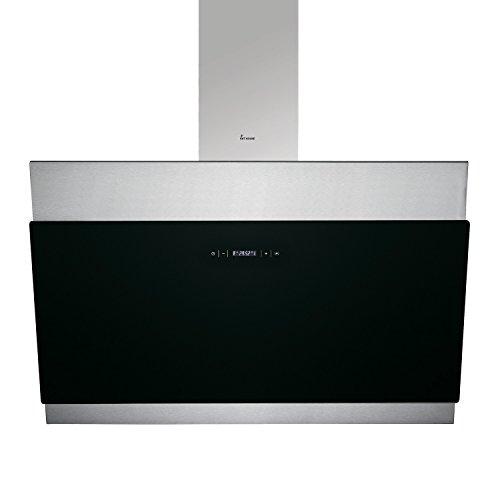 KKT KOLBE BICOLORE90 Wand-Dunstabzugshaube / 90 cm kopffrei / Edelstahl-Schwarz / Touch Display / Timer / Nachlauf / LED-Beleuchtung / leichte Montage