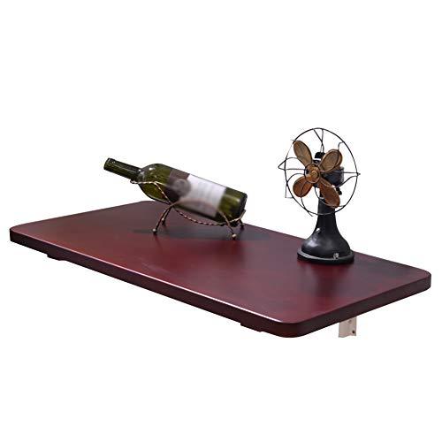 Klapptisch, Wandklappbarer Küchen- & Esstisch Schreibtisch, Kindertisch, Rotbraun, Größe Optional (größe : 60x30cm) -