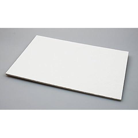 Premium feltro piatto–20x 30cm–5,5mm di spessore–feltro aliante–platino feltro–mobili aliante–antigraffio protezione, autoadesivo quadrato–qualità, 5,5mm di spessore per feltro taglio (1, Bianco) - Feltro Bianco