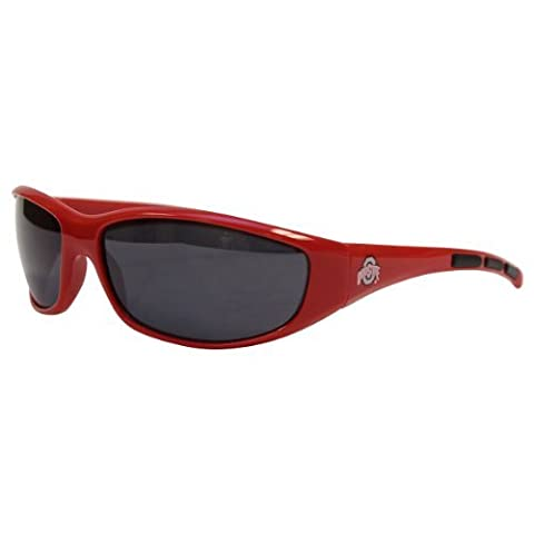 NCAA 3 Dot School Colors and Logo Sport Sunglasses (Ohio State Buckeyes) by NCAA Licensed Merchandise